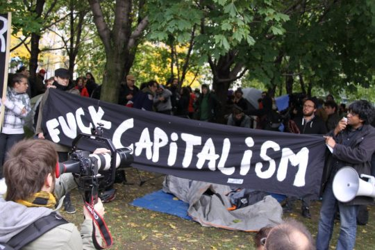 Occupy Montreal Sign